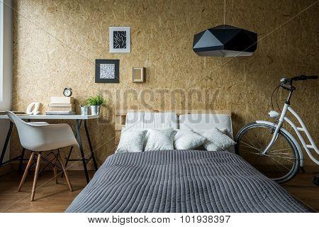 Pallet Bed In Ecological Bedroom