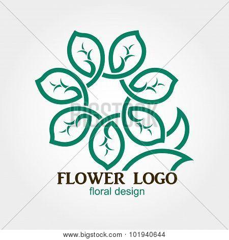 Flower Logo, Abstract, Geometric shape, Business symbol