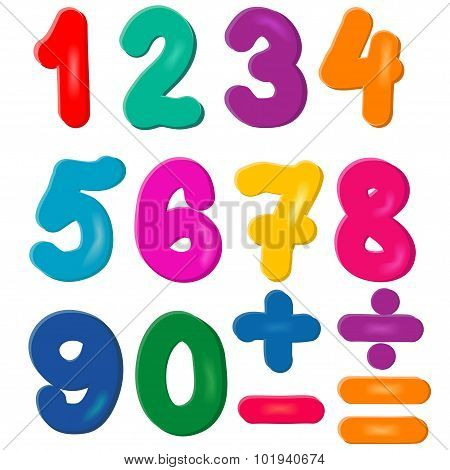 Brightly Colored Numbers