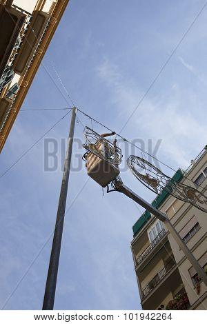 Tower Pole For Fair Decoration