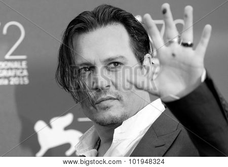 Johnny Depp at the photocall for Black Mass at the 2015 Venice Film Festival.September 4, 2015  Venice, Italy