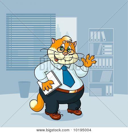 Pounchy cat