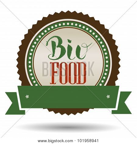 Bio Food Hand Lettering Handmade Vector Calligraphy.