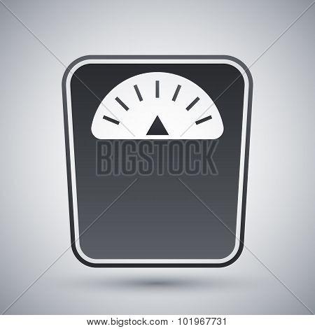 Vector Bathroom Scales Icon