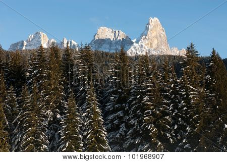 Winter Scene, The Dolomites, Italy