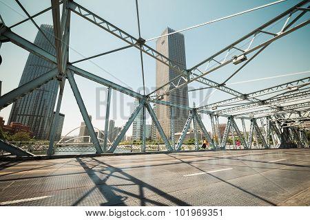 Steel Bridge In Tianjin