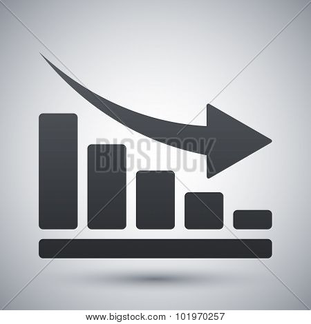 Vector Declining Graph Icon