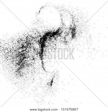 Grainy texture vector.