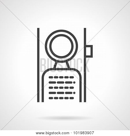Abstract flat simple line vector icon for label hanging on door handle. Symbols for hotel, do not disturb sign. Web design elements. poster