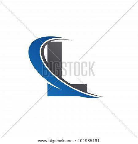 L blue swoosh logo