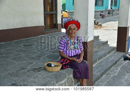 Traditional Elderly Guatemalan Woman