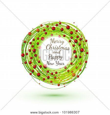 Modesrn Style Rich Christmas Wreath