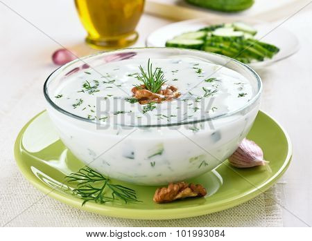 Bulgarian Summer Soup With Cucumbers