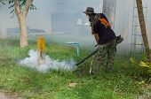 Fumigate mosquito-killing to prevent disease in Thailand poster