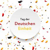 Tag der Deutschen Einheit (eng. The Day of German Unity). Vector background poster
