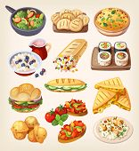 Vegetarian street food, restaurant and homemade dishes. poster