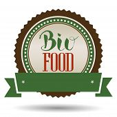 Bio Food Hand lettering handmade vector calligraphy and label. Organic bio natural design template. Logo maker. poster