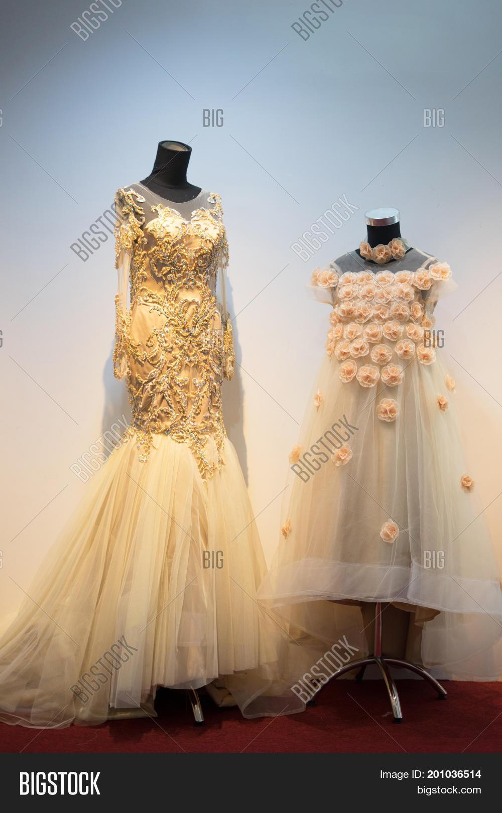 Set Wedding Dress Gown Mom Kids Image & Photo | Bigstock