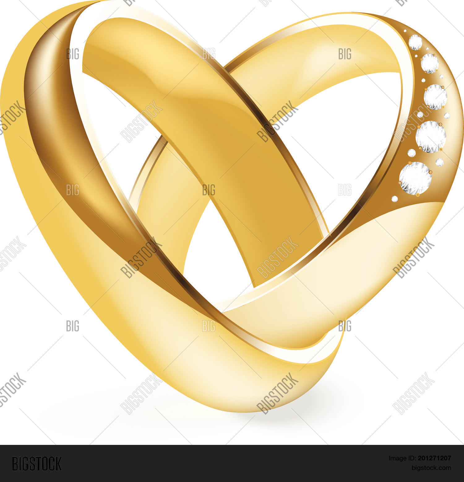 Shiny Gold Engagement Vector Photo Free Trial Bigstock