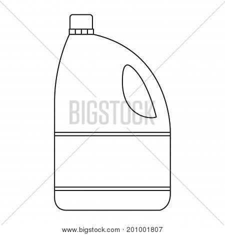 monochrome silhouette of bleach clothes bottle vector illustration
