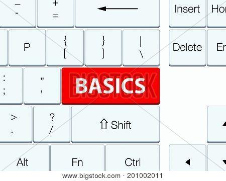 Basics Red Keyboard Button