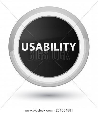 Usability Prime Black Round Button