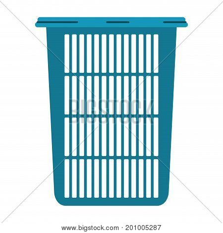 colorful silhouette of tall laundry basket without handles vector illustration