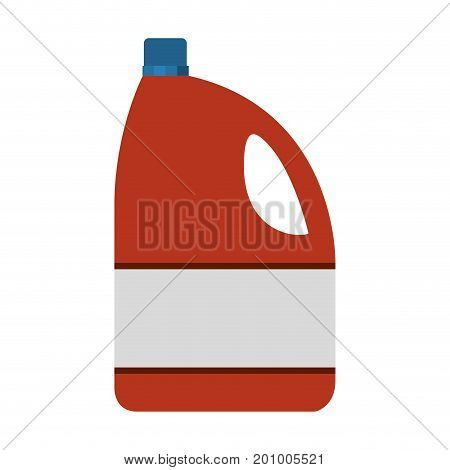 colorful silhouette of bleach clothes bottle vector illustration