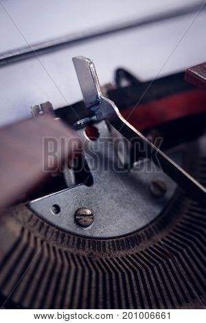 Hgh angle view of typebar key