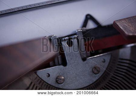 Cropped image of typebar key