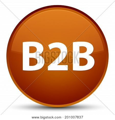 B2B Special Brown Round Button