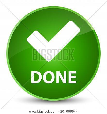 Done (validate Icon) Elegant Green Round Button