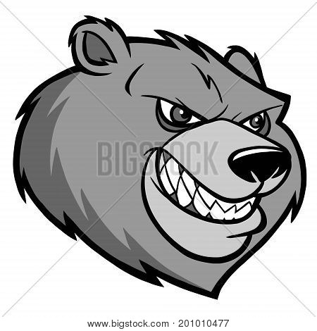 A vector illustration of a Bear mascot.