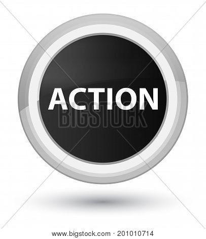 Action Prime Black Round Button