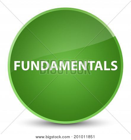 Fundamentals Elegant Soft Green Round Button