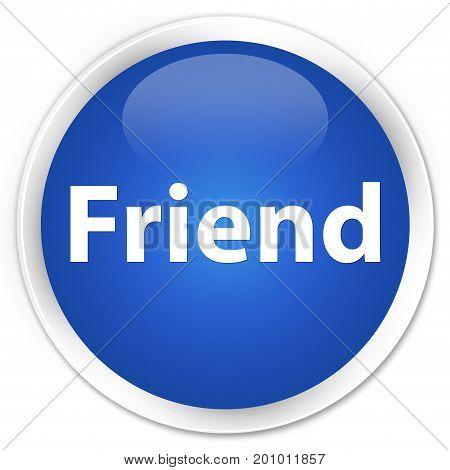 Friend Premium Blue Round Button
