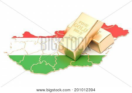 Foreign-exchange reserves of Hungary concept 3D rendering isolated on white background