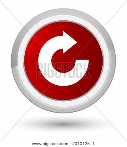 Reply Arrow Icon Prime Red Round Button