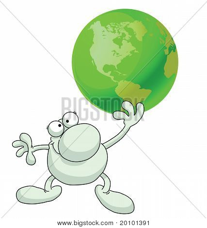 Man green earth