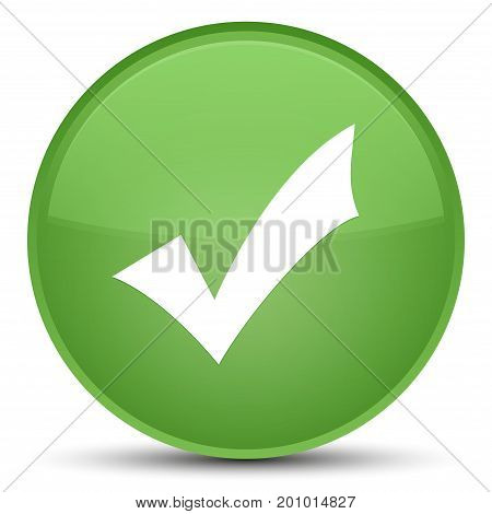 Validation Icon Special Soft Green Round Button