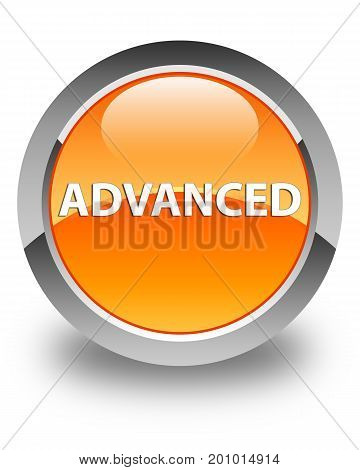 Advanced Glossy Orange Round Button