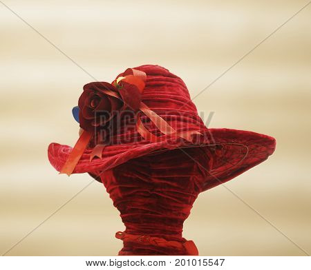 Beautiful elegance red headwear fashion mode happiness