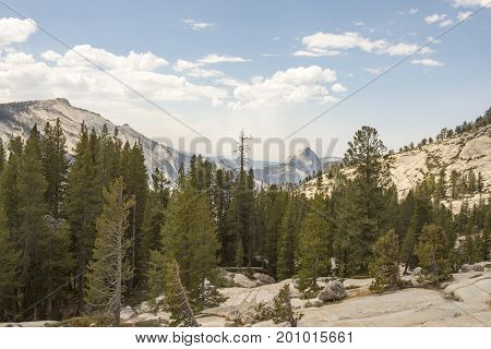 Landscape Of Yosemite With Half Dome