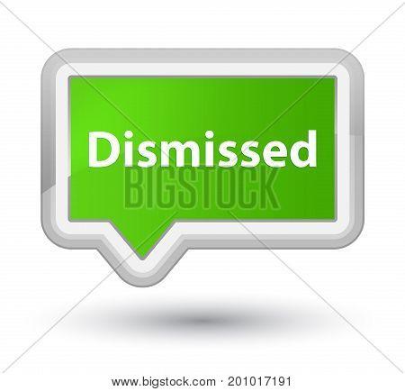 Dismissed Prime Soft Green Banner Button