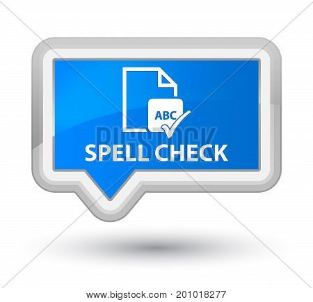 Spell Check Document Prime Cyan Blue Banner Button