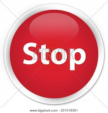 Stop Premium Red Round Button
