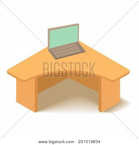 Table icon. Isometric illustration of table vector icon for web