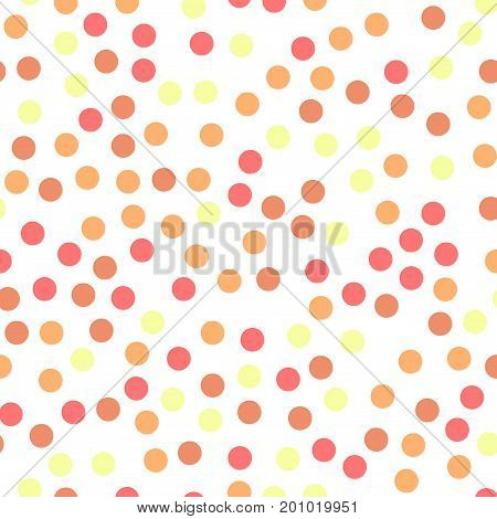Colorful Polka Dots Seamless Pattern On Black 21 Background. Dazzling Classic Colorful Polka Dots Te