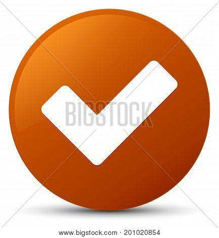 Validate Icon Brown Round Button