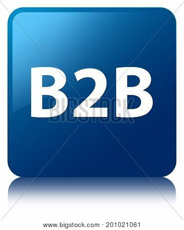 B2B Blue Square Button